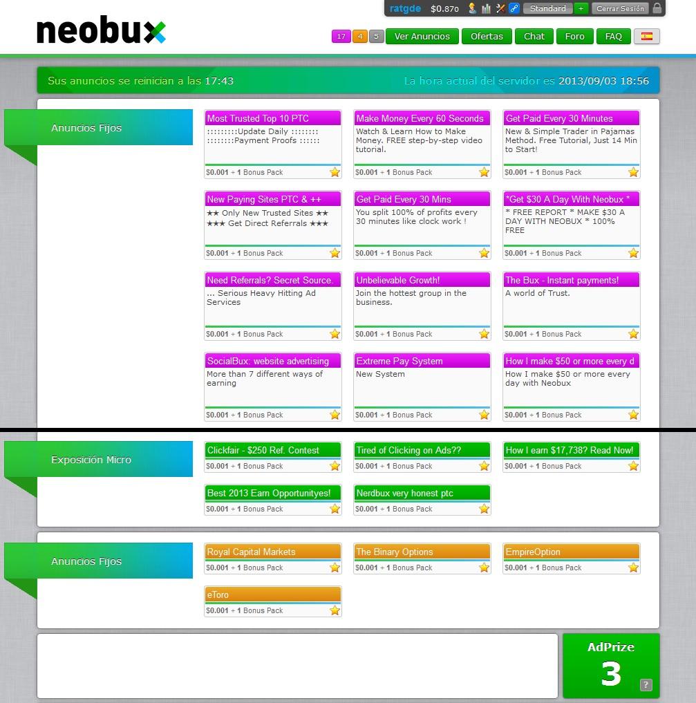 Resultado de imagen para anuncios neobux